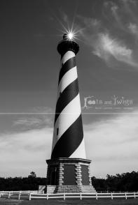 Cape Hatteras Lighthouse, North Carolina, Black and White