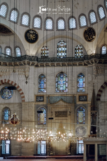 Suleymaniye Mosque Interior, Istanbul, Turkey (Film)